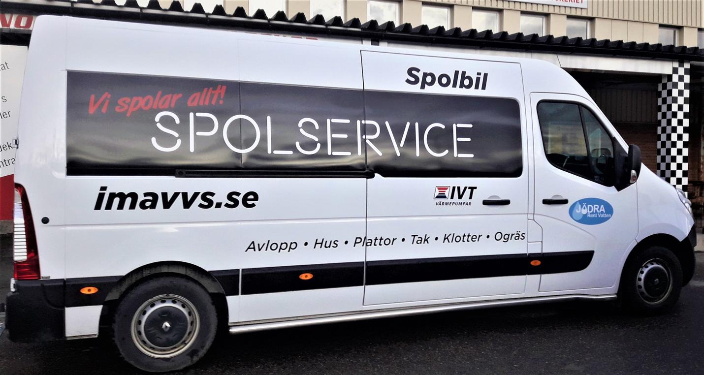 Vi utför spolservice i Östergötland med omnejd med vår spolbil